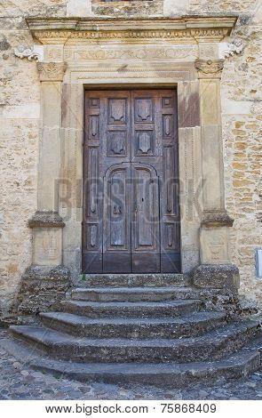 Church of Annunziata. Genzano di Lucania. Italy.