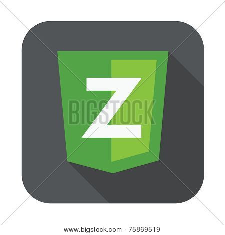raster round icon of Z letter for zend framework