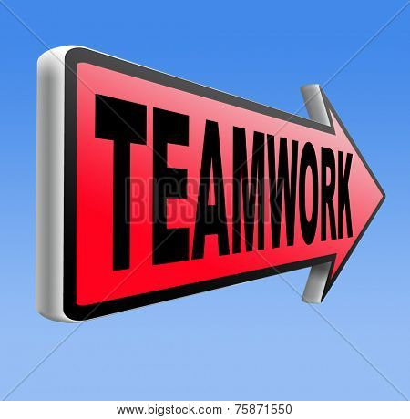 teamwork coorporation working together team work