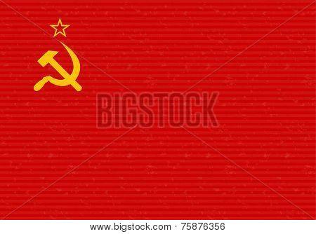 CCCP Flag Grunge