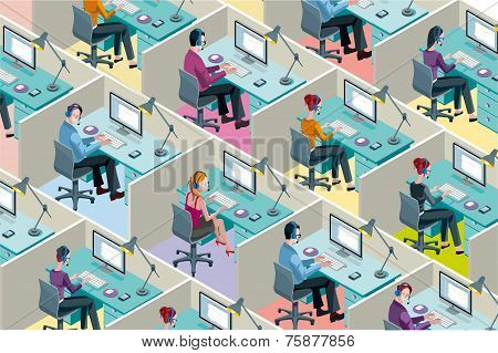Isometric Office Cubicles
