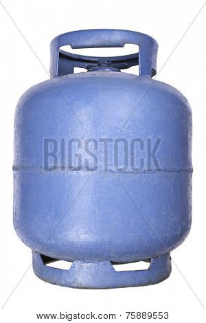 Liquefied petroleum gas (LPG) - Blue propane/butane gas tank