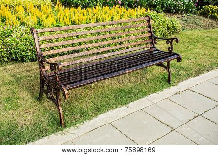 bench in the roya lfloral chiangmai  province Thailand.