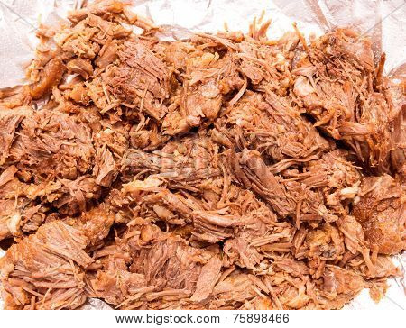 Barbacoa de res meat mexico style boiled cow meat Mexican recipe