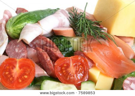 Cold Cuts, Fish, Vegetables And Cheese