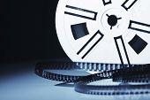 vintage old 8mm film movie background image poster