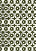 Abstract Vector background with repeat pattern in white and dark green poster