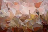 Triangles background in shades of brown color. poster