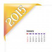 2015 January calendar poster