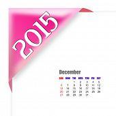 2015 December calendar poster