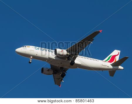 Airbus A-320, Srilankan Airlines