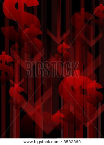 Recession background