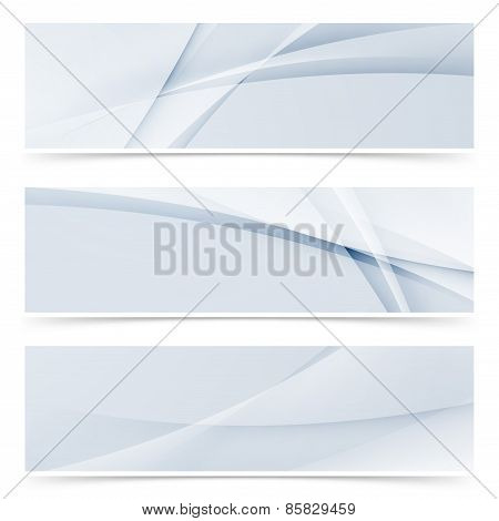 Fashion Wave Swoosh Banner Collection Design Set