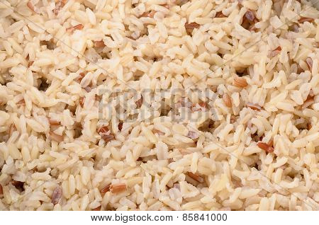 Close Up Boiled Brown Rice