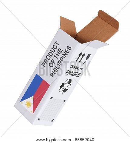 Concept Of Export - Product Of The Phillipines
