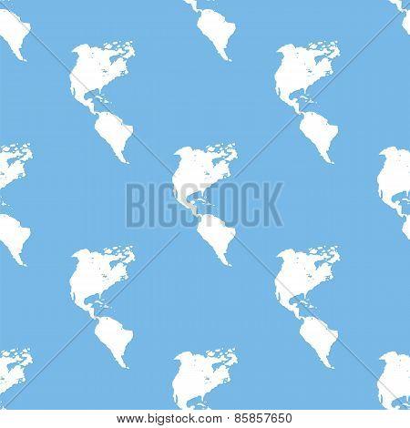Continental Americas seamless pattern