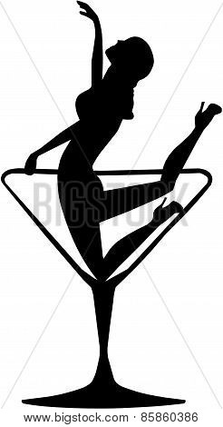 Girl In A Cocktail Glass