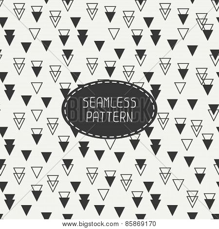 Geometric hipster seamless pattern with rhombus, triangle. Paper for scrapbook. Tiling. Beautiful ve