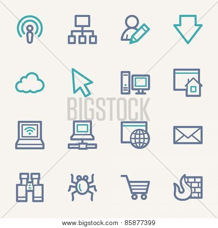 Internet web icons set