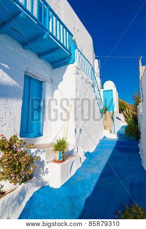 Typical Cycladic Architecture, Plaka Village, Milos Island, Cyclades, Greece