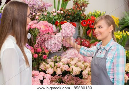 Florist at work time