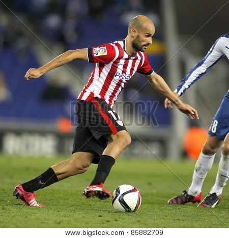 BARCELONA - MAR, 4: Mikel Rico of Athletic Bilbao during a Spanish League match against RCD Espanyol at the Estadi Cornella on March 4, 2015 in Barcelona, Spain