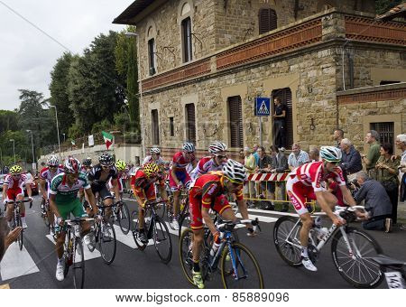 Group of cyclists at Uci Road World Championships