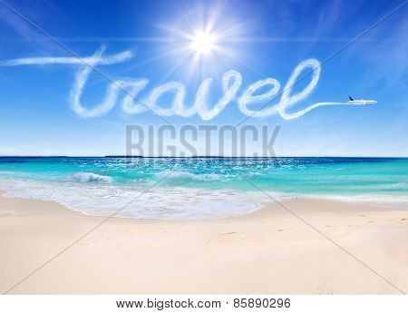 travel concept to the tropical beaches
