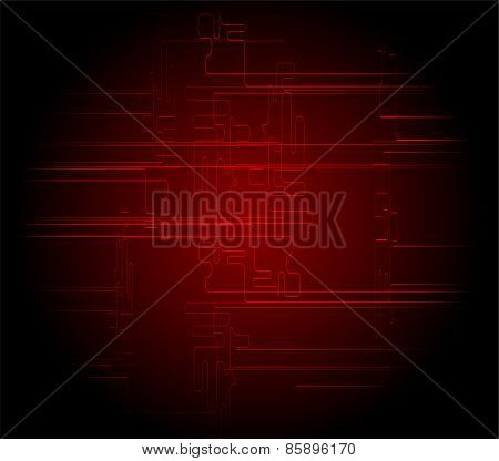 Abstract dark red black technical background