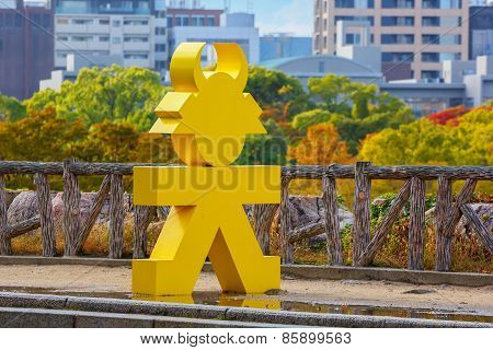 Tokugawa Ieyasu Symbol in Osaka Japan