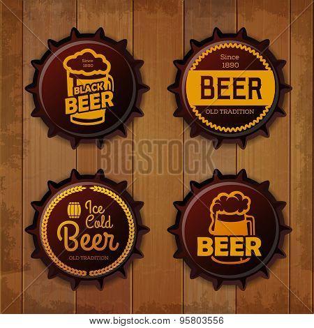 Bottle Cap Design. Beer Labels