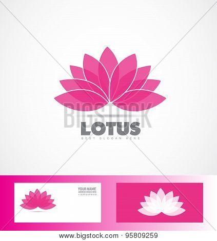 Lotus Flower Pink Purple Logo Icon