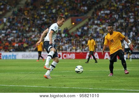 May 27, 2015: England Premier League side Tottenham Hotspur's striker Harry Kane (18) dribbles the ball in the friendly match against the Malaysian Team. Tottenham Hotspur is on a Asia-Australia tour.