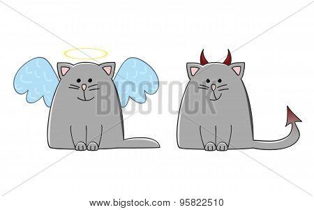 Angel Demon Cat