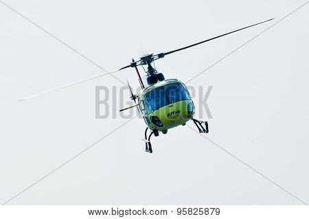 Piloting of Eurocopter AS-350 on airshow