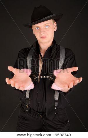 Blue-eyed Gangster Busted