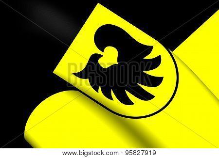 Flag Of Aldrans City, Austria.