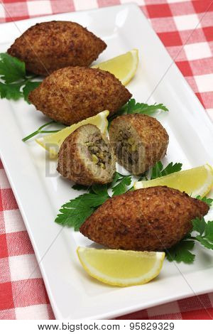 homemade kibbeh, middle eastern food