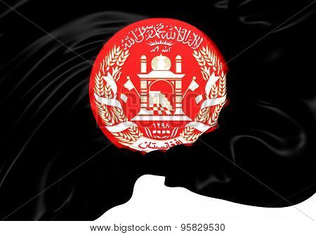 President of Afghanistan 3D Flag. Close Up. poster
