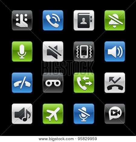 Phone Calls Interface Glossy Buttons // Gelbox Series