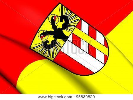 Flag Of Bavarian Swabia, Germany.