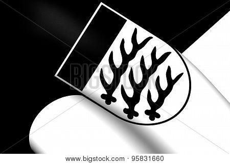 Flag Of Waiblingen City, Germany.