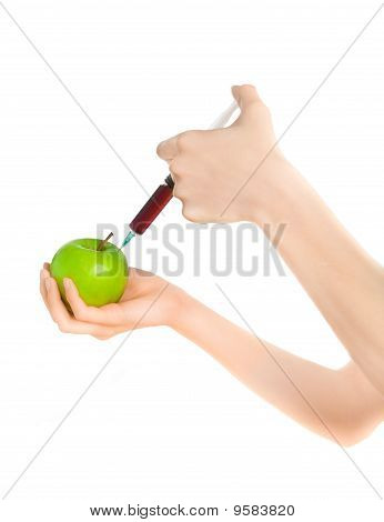 Woman's Hands With Unhealthy Fruit
