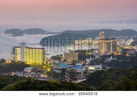 Shirahama, Japan skyline at the beachfront resorts.