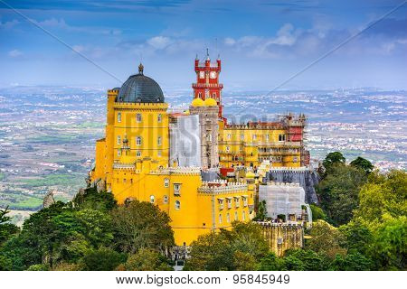 Sintra, Portugal at Pena National Palace.