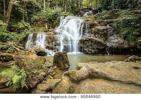 Pha Charoen tropical waterfall, Thailand