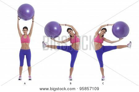 Exercise For Lateral Abs With A Swiss Ball