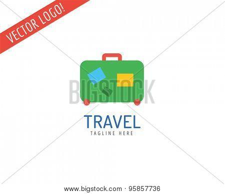 Bag vector logo icon logo. Sea, summer or holiday symbol. Stock design element