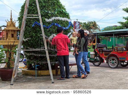 Sihanoukville, Cambodia - December 05