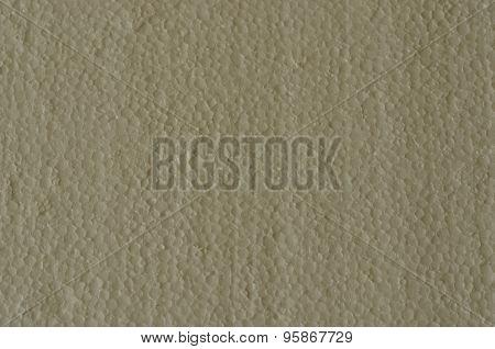 White plate of polystyrene foam